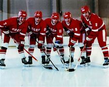 The Big Russian Five Team USSR Russia with Krutov, Larionov, Makarov 8x10 Photo