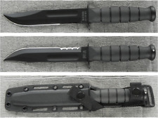 KA1259 Couteau Kabar Black Short 1095 Carbon Blade Kraton Handle Kydex Sheath US