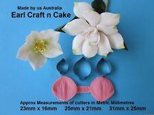 Gardenia Chrismas Rose Cutters Veiner  Gum Paste Tools