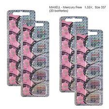 Maxell 337 SR416SW V337 SR416 Silver Oxide Watch Batteries (20 Pcs) Fresh