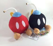 "2X Super Mario Bros Plush Bob-omb Bomb Soft Toy Stuffed Animal Red Black Doll 5"""