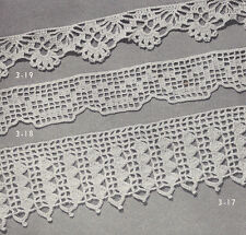Vintage Crochet PATTERN to make 3 Easy Lace Edging Designs Bands Insertions