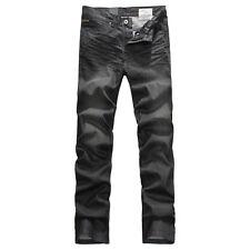 FOX JEANS Men's Augus Comfort Fit Black Denim Jeans