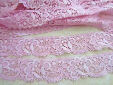"""10 yards Elastic/Stretch Soft Floral Lace 1.25"""" Trim/sewing/Light T62-Baby Pink"""