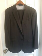 Mens BROOKS BROTHERS Madison Suit 42R Grey Solid Wool pants 36
