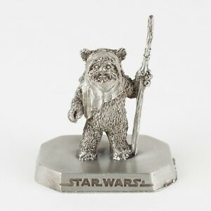 Wicket Ewok from ROTJ | Vintage 1990s Star Wars Figure by Rawcliffe Pewter