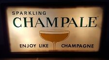Vintage Sparkling Champale Light Up Flashing Colors Bar Liquor Store Sign
