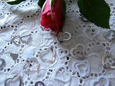 (10g/ 3,21€)  2x Streudeko Hochzeit Tisch Just Married Herzen Silber Weiß (14g)
