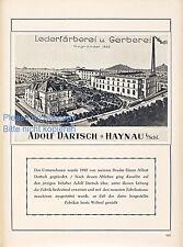 Färberei Gerberei Dartsch Haynau Reklame 1923 Goldberg Leder Chojnow Schlesien +