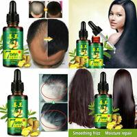 30ml 7-Day Hair Loss Treatment Ginger Hair Care Growth Essence Oil for Men Women