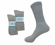 LONG diabetic socks 6 PAIR SPORTS  circulatory FIRST QUALITY SOCKS GRAY 12-15