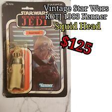 Vintage Star Wars ROTJ 65 Back Squid Head
