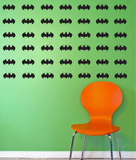 Batman logo wall decal stickers - Batman stickers. 54 per pack = Value!