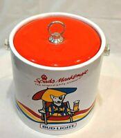 Vintage Spuds MacKenzie Ice Bucket Bud Light Man Cave 1987 Plastic EUC
