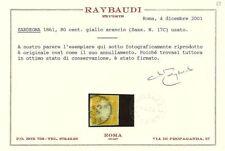 Francobolli italiani dell'antico stato di Sardegna giallo