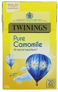 Twinings Pure Camomile - Packaged Flat - FREE UK P&P - 20 Tea Bags