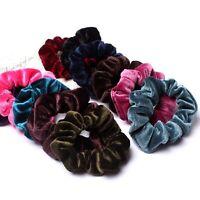 10pcs Velvet Hair Ties Bands Elastic Scrunchies Ponytail Holder Soft Velveteen