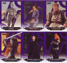 Star Wars Galactic Files Reborn purple parallel base lot (/99) of 13