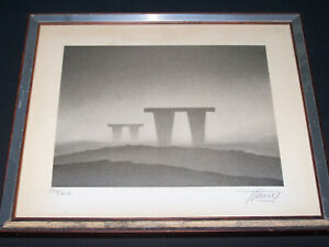 Trevor Grimshaw - The Monoliths - Limited Edition Lithograph - Numbered & Signed