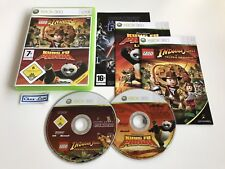 Lego Indiana Jones + Kung Fu Panda - Microsoft Xbox 360 - PAL FR - Avec Notices