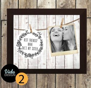 best friend gift, SISTER, Birthday, Friendship quote, personalised photo print