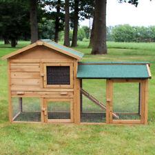 Zooprimus ❤ Cage Clapier Enclos lapin en Bois de pin Haute Qualité 145x53x86 cm
