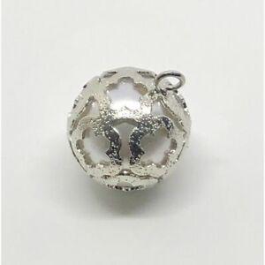 12 PZ Decorazione Bomboniera Perla Argento da appendere 1.5 cm 0TNG