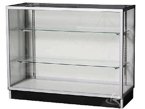 NEW 1.2m long  two shelves GLASS Showcase Display Cabinet Counter Shelving KD4G