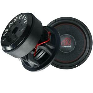 """TWO HIPPOXL122R - 12"""" 3000 WATTS RMS DUAL 2 OHM 4"""" V.C. MEGA SUBWOOFER"""