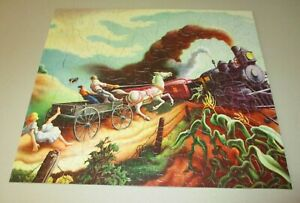 Vintage Wreck of Old '97 Jigsaw Puzzle ~ Art by Thomas Hart Benton ~ 304 pc
