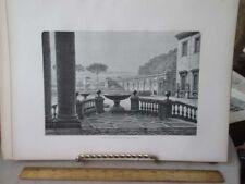 Vintage Print,PORTICS OF ACADEMY,Rome,Francis Wey,1872