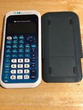 Texas Instruments Ti-34 MultiView Scientific Math Calculator Blue Gray Solar