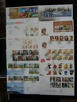 GT BRITAIN 2012-13 24 x DIFFERENT COMMEMORATIVE FIRST DAY COVERS INC 6 x M/S VGC