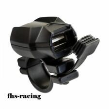 USB Steckdose mit Lenkerschelle , Honda KTM BMW Motorrad Roller Navi Handy!