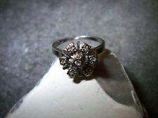 Diamante - 585er-BIANCO-ORO-Donna - Ring - 7 – pietre - 1960-80