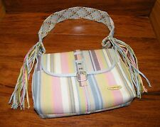 Longaberger Homestead Striped Multi-Color Shoulder Bag / Purse Only