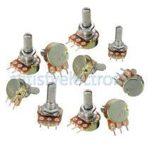10 pcs 5K ohm Linear Taper Rotary Potentiometer Panel pot B5K 15mm