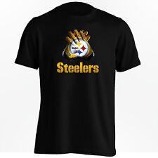 Pittsburgh Steelers T-Shirt - Ben Roethlisberger NFL Gloves Design Shirt - S-5XL