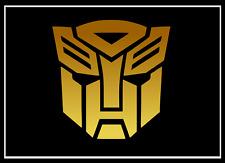 TRANSFORMERS AUTOBOT gold 2x Aufkleber Sticker Emblem 100x100mm