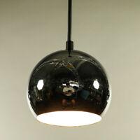 Polierte Chromkugel Pendel Leuchte Ø 14 cm Hänge Lampe Vintage 60er 70er