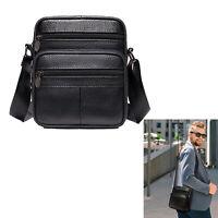 Messenger Bag Genuine Leather Briefcase Shoulder Satchel Bag for Men Crossbody 