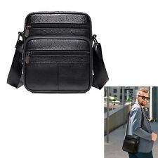 Messenger Bag Genuine Leather Briefcase Shoulder Satchel Bag for Men Crossbody ​