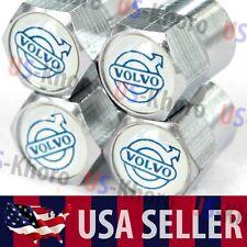 Volvo Logo Valves Stems Caps Covers Metal Chrome Roundel Wheel Tire Emblem USA 3