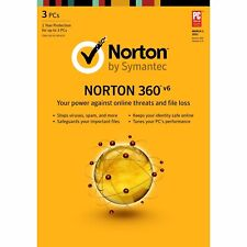NORTON 360 2020 Good for 3 Devices, Works W/WINDOWS  1 Year