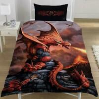 Anne Stokes Fire Dragon Single Duvet Bed Quilt Panel Cover Set Brand New Gift