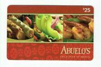 Abuelo's Gift Card Mexican Restaurant - No Value / Collectible - I Combine Ship