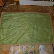 "Pottery Barn Green Linen 16"" X 26"" Jute Rope Edge Pillow Cover"