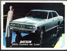 Datsun Nissan 260C Saloon 1973 UK Market Sales Brochure Cedric