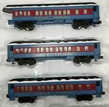 Lionel O-Gauge Polar Express Coach Observation Cars 3 Puppet Snow 6-84328 Read