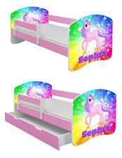 Jugendbett Kinderbett mit einer Schublade und Matratze ROSA 140x70 160x80 180x80